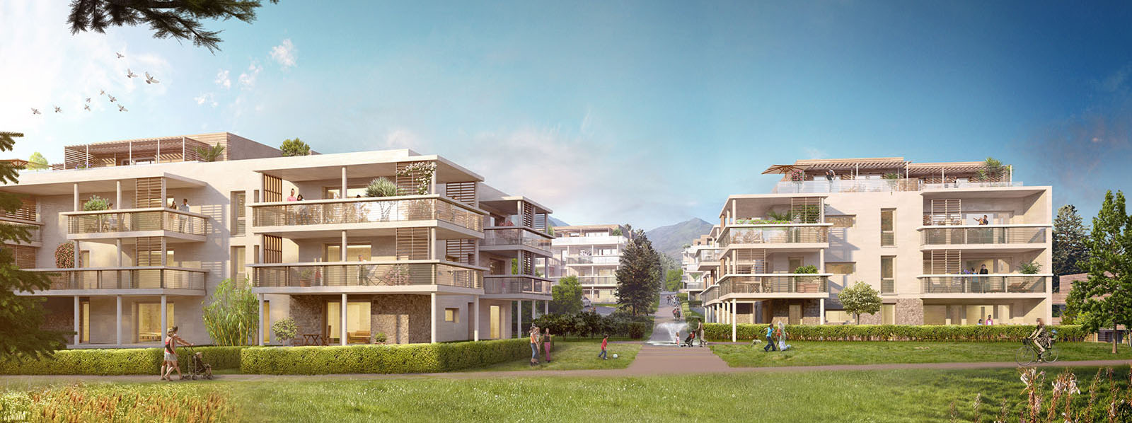 Image LOGEMENTS A GEX par Archigroup et Exfolio